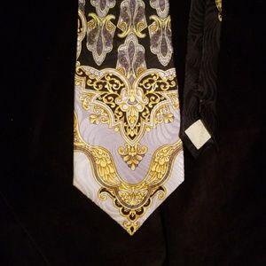 1980s pre death Versace silk tie